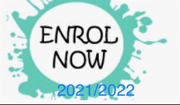 Enrolment for 2021/2022 NOW OPEN