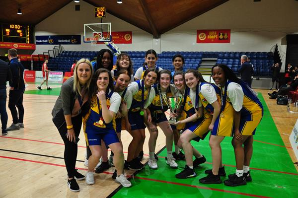 U16's Girl's Basketball team win the Leinster title