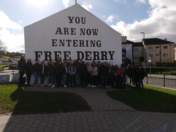 5th and 6th year students visit Derry